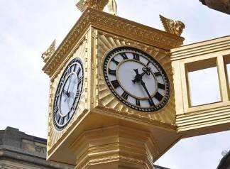 Newcastle after clock restoration