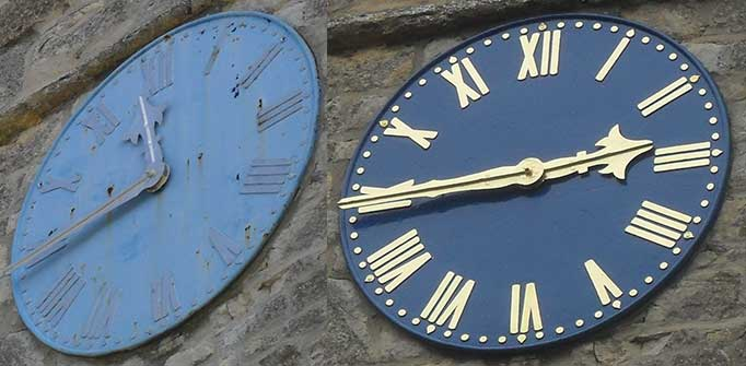 Church Clock Dial Restoration