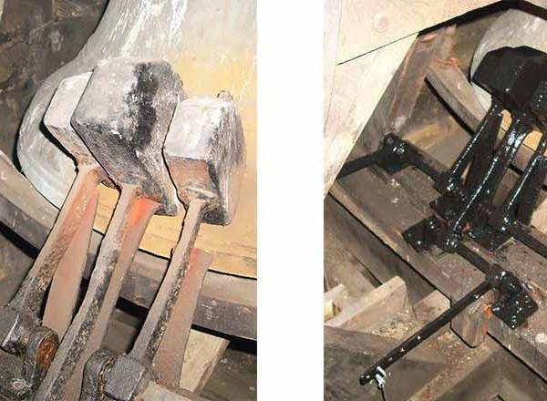 Before and after the hammer repair